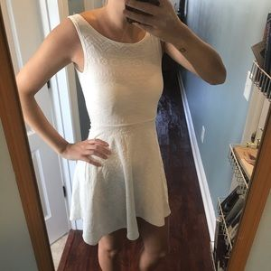 Charlotte russe fit and flare white dress